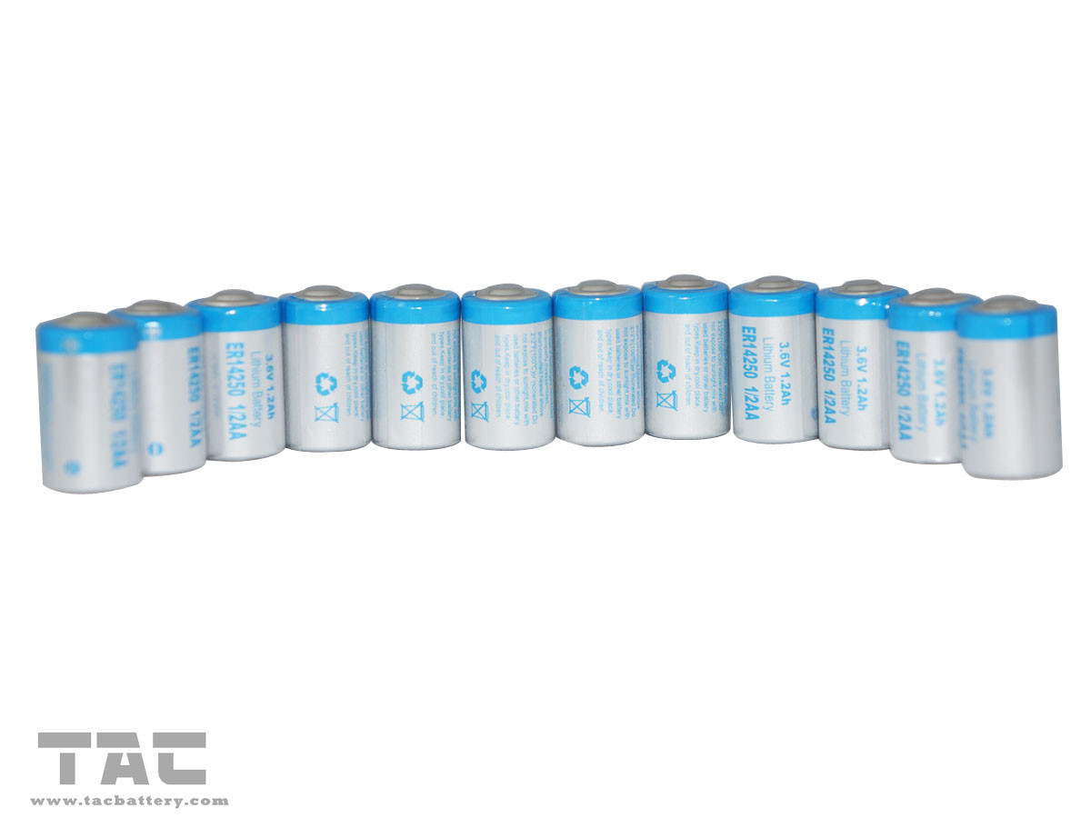 ER12AA  LiSOCl2 Battery of 3.6V with High Energy Density for Intelligent water meter